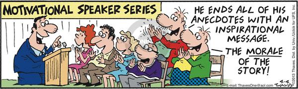 Cartoonist Bob Thaves Tom Thaves  Frank and Ernest 2013-04-04 morality