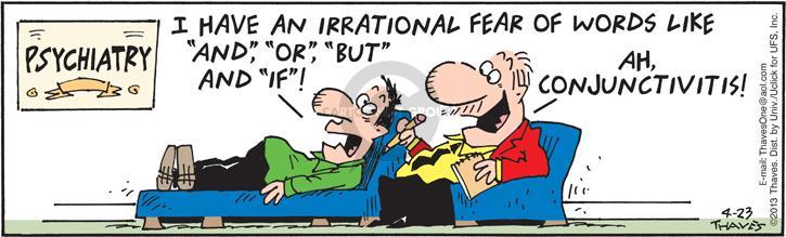 Comic Strip Bob Thaves Tom Thaves  Frank and Ernest 2013-04-23 grammar