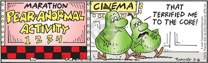 Comic Strip Bob Thaves Tom Thaves  Frank and Ernest 2013-05-06 afraid