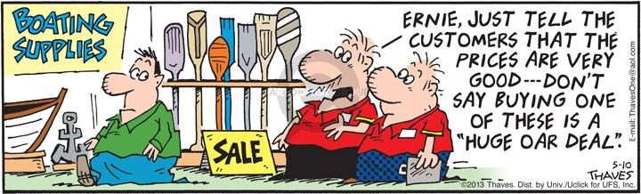 Comic Strip Bob Thaves Tom Thaves  Frank and Ernest 2013-05-10 discount