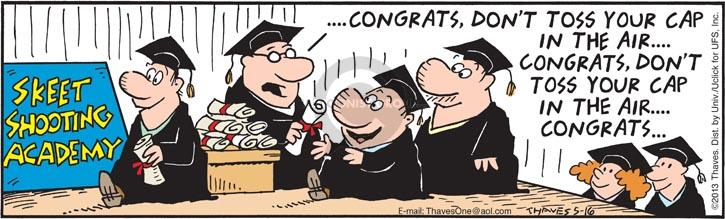 Comic Strip Bob Thaves Tom Thaves  Frank and Ernest 2013-05-16 graduation
