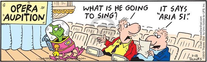 Comic Strip Bob Thaves Tom Thaves  Frank and Ernest 2013-05-18 singer