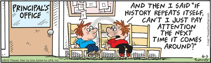Comic Strip Bob Thaves Tom Thaves  Frank and Ernest 2013-06-05 elementary school student