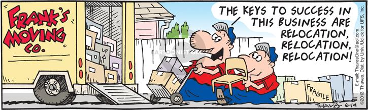Comic Strip Bob Thaves Tom Thaves  Frank and Ernest 2013-06-14 success