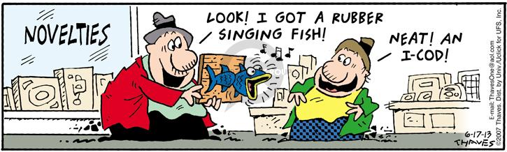 Comic Strip Bob Thaves Tom Thaves  Frank and Ernest 2013-06-17 fish