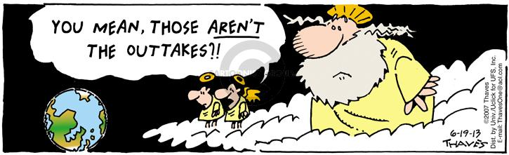 Cartoonist Bob Thaves Tom Thaves  Frank and Ernest 2013-06-19 cloud