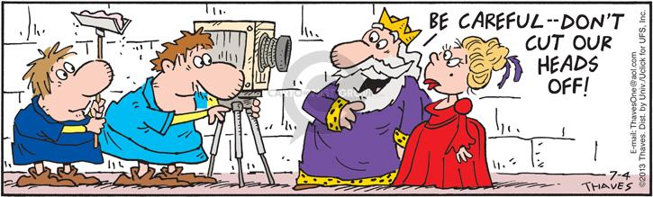 Comic Strip Bob Thaves Tom Thaves  Frank and Ernest 2013-07-04 king