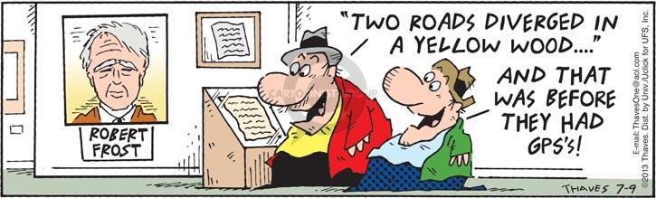 Comic Strip Bob Thaves Tom Thaves  Frank and Ernest 2013-07-09 assistance
