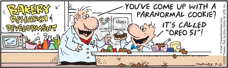 Comic Strip Bob Thaves Tom Thaves  Frank and Ernest 2013-07-15 cookie