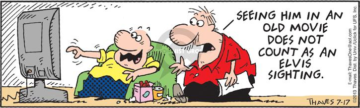 Comic Strip Bob Thaves Tom Thaves  Frank and Ernest 2013-07-17 does