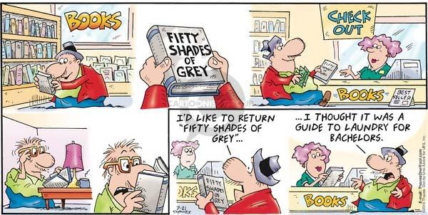 Comic Strip Bob Thaves Tom Thaves  Frank and Ernest 2013-07-21 50 Shades of Grey