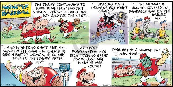 Comic Strip Bob Thaves Tom Thaves  Frank and Ernest 2013-07-28 baseball team