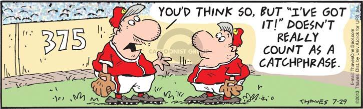 Comic Strip Bob Thaves Tom Thaves  Frank and Ernest 2013-07-29 baseball