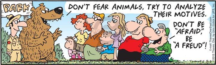 Comic Strip Bob Thaves Tom Thaves  Frank and Ernest 2013-08-05 park