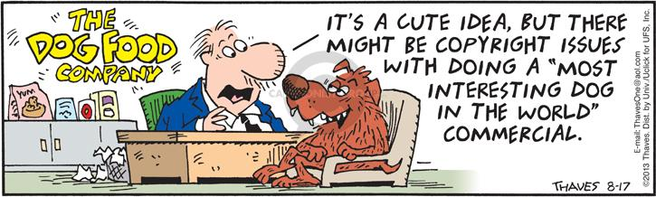 Comic Strip Bob Thaves Tom Thaves  Frank and Ernest 2013-08-17 issue