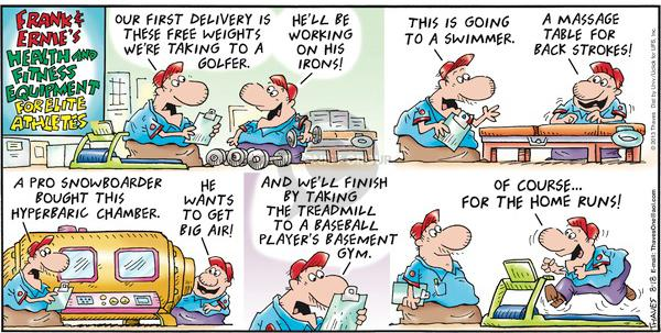 Cartoonist Bob Thaves Tom Thaves  Frank and Ernest 2013-08-18 delivery