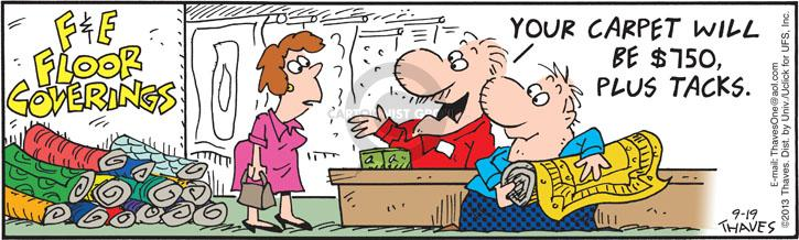Comic Strip Bob Thaves Tom Thaves  Frank and Ernest 2013-09-19 tax