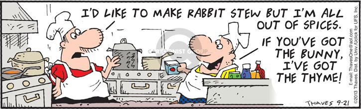 Comic Strip Bob Thaves Tom Thaves  Frank and Ernest 2013-09-21 kitchen