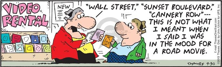 Comic Strip Bob Thaves Tom Thaves  Frank and Ernest 2013-09-30 Wall Street