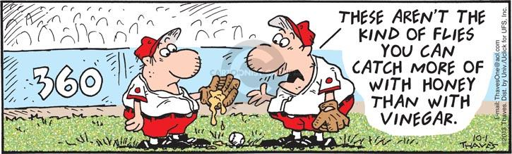 Comic Strip Bob Thaves Tom Thaves  Frank and Ernest 2013-10-01 baseball