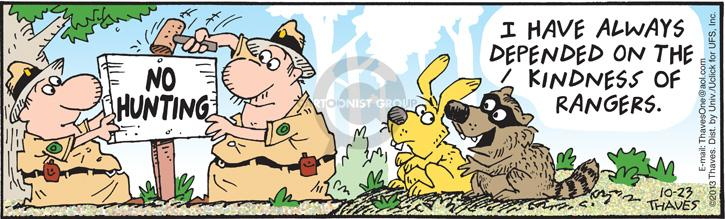 Comic Strip Bob Thaves Tom Thaves  Frank and Ernest 2013-10-23 wildlife