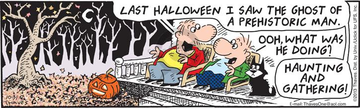 Comic Strip Bob Thaves Tom Thaves  Frank and Ernest 2013-10-31 Halloween