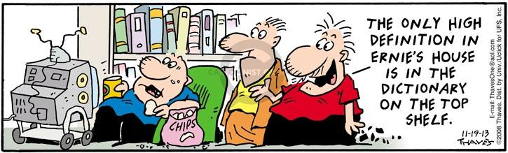 Comic Strip Bob Thaves Tom Thaves  Frank and Ernest 2013-11-19 2008
