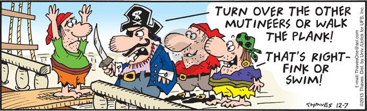 Comic Strip Bob Thaves Tom Thaves  Frank and Ernest 2013-12-07 ship