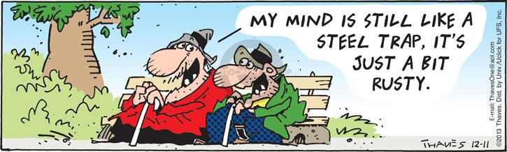 Cartoonist Bob Thaves Tom Thaves  Frank and Ernest 2013-12-11 mind