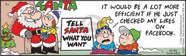 Comic Strip Bob Thaves Tom Thaves  Frank and Ernest 2013-12-20 claus