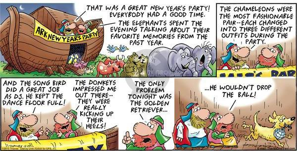 Comic Strip Bob Thaves Tom Thaves  Frank and Ernest 2013-12-29 chameleon