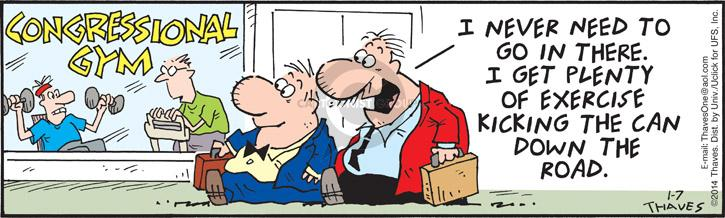 Comic Strip Bob Thaves Tom Thaves  Frank and Ernest 2014-01-07 congressman