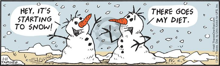 Comic Strip Bob Thaves Tom Thaves  Frank and Ernest 2014-01-11 snow