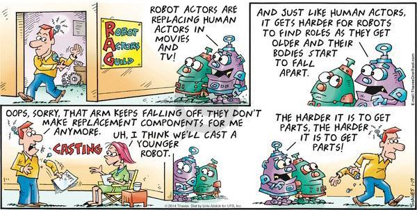 Cartoonist Bob Thaves Tom Thaves  Frank and Ernest 2014-01-19 get older