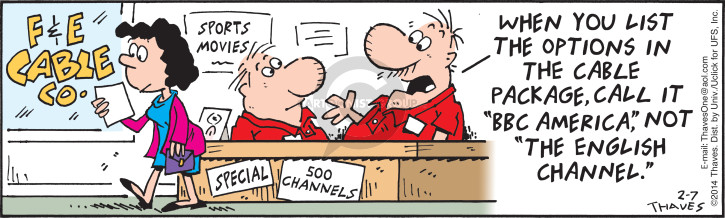 Cartoonist Bob Thaves Tom Thaves  Frank and Ernest 2014-02-07 cable
