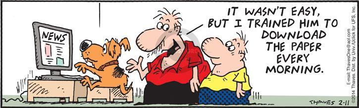 Comic Strip Bob Thaves Tom Thaves  Frank and Ernest 2014-02-11 paper