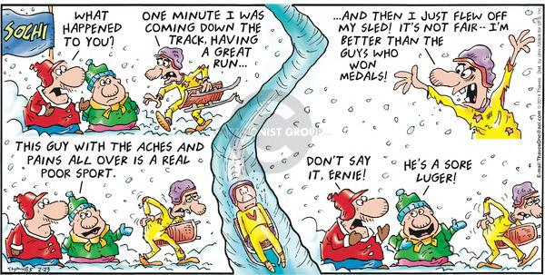Comic Strip Bob Thaves Tom Thaves  Frank and Ernest 2014-02-23 2014 Olympics
