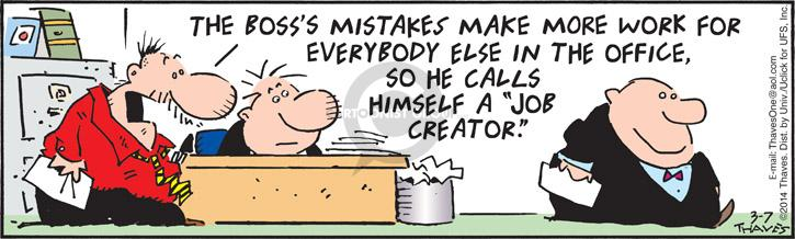 Comic Strip Bob Thaves Tom Thaves  Frank and Ernest 2014-03-07 mistake