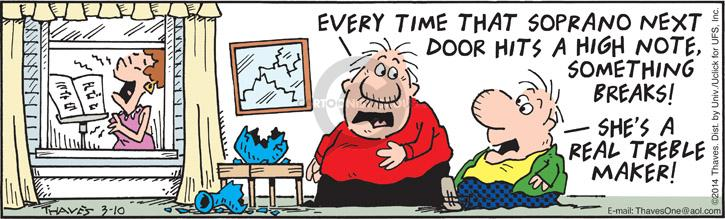 Comic Strip Bob Thaves Tom Thaves  Frank and Ernest 2014-03-10 door