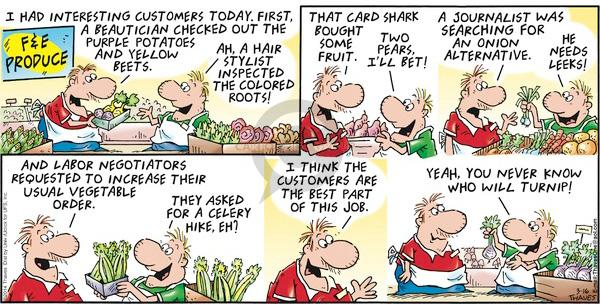 Comic Strip Bob Thaves Tom Thaves  Frank and Ernest 2014-03-16 vegetable