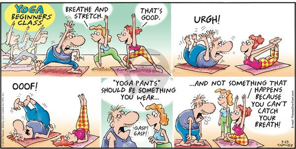 Comic Strip Bob Thaves Tom Thaves  Frank and Ernest 2014-03-23 yoga class