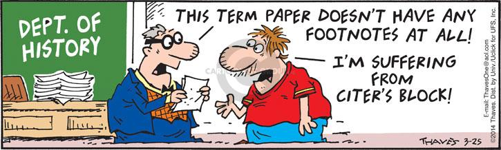 Comic Strip Bob Thaves Tom Thaves  Frank and Ernest 2014-03-25 paper
