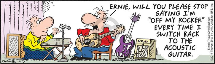 Cartoonist Bob Thaves Tom Thaves  Frank and Ernest 2014-04-07 stop
