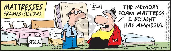 Comic Strip Bob Thaves Tom Thaves  Frank and Ernest 2014-04-22 density