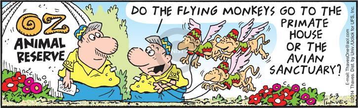 Comic Strip Bob Thaves Tom Thaves  Frank and Ernest 2014-05-03 avian