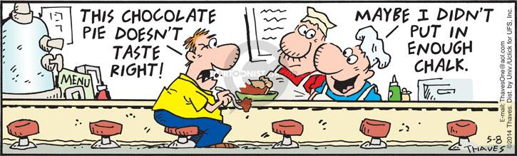Comic Strip Bob Thaves Tom Thaves  Frank and Ernest 2014-05-08 pie