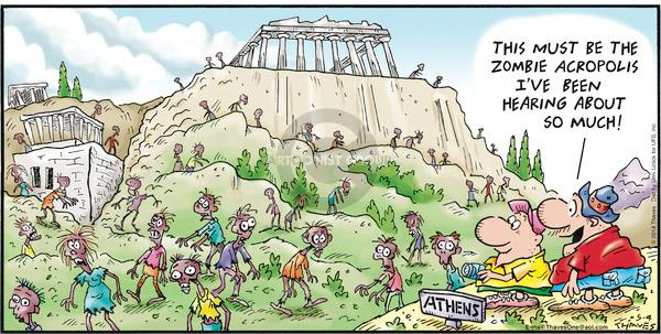 Comic Strip Bob Thaves Tom Thaves  Frank and Ernest 2014-05-04 Greece
