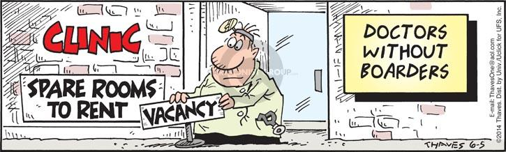 Cartoonist Bob Thaves Tom Thaves  Frank and Ernest 2014-06-05 border