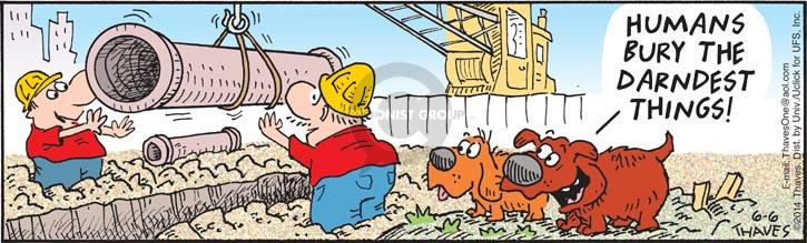 Comic Strip Bob Thaves Tom Thaves  Frank and Ernest 2014-06-06 construction worker