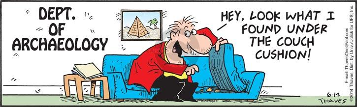 Comic Strip Bob Thaves Tom Thaves  Frank and Ernest 2014-06-14 cushion
